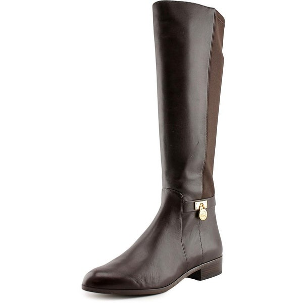 Michael Michael Kors Hamilton Tall Boot Women Leather Brown Knee High Boot