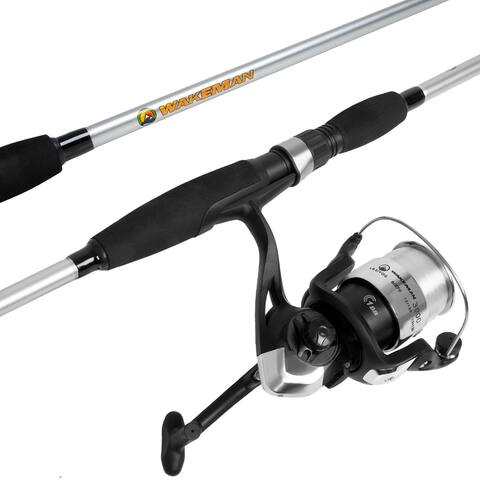 Fishing Rod and Reel Combo, Spinning Reel Fishing Pole, Fishing Gear for Bass and Trout Fishing  Strike Series by Wakeman