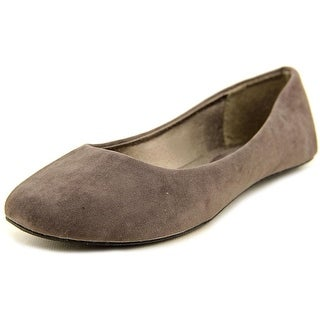West Blvd Ballet Women  Round Toe Suede Gray Ballet Flats
