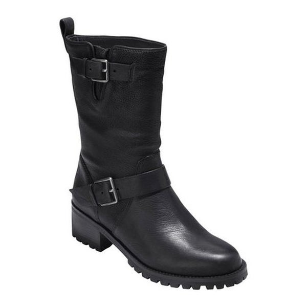 c459d96d5cf4 Shop Cole Haan Women s Hemlock Boot Black Leather - Free Shipping ...