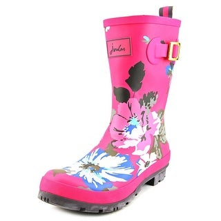 Joules Mollywelly Women Round Toe Synthetic Pink Rain Boot