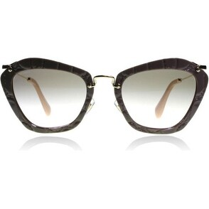 Miu Miu MU10NS 55mm Cat Eye Sunglasses (Black)