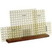 """20""""X4""""X3/4"""" 5 Slot - Omnigrid Wood Ruler Rack"""