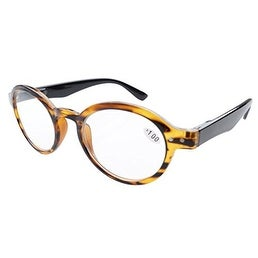 Eyekepper Spring Hinges Round Retro Reader Reading Glasses Amber +2.00