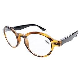 Eyekepper Spring Hinges Round Retro Reader Reading Glasses Amber +2.50