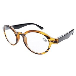 5f9aca918fb Shop Eyekepper Spring Hinges Round Retro Reader Reading Glasses Amber +3.50  - Free Shipping On Orders Over  45 - Overstock.com - 15193719