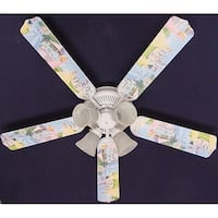 Disney's Princess Castle Print Blades 52in Ceiling Fan Light Kit - Multi