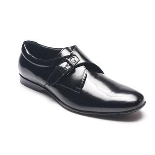 Versace Collection Men's Shiny Black Oxfords Dress Shoes