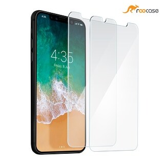 rooCASE 2-Pack iPhone X Tempered Glass Screen Protector Guard for Apple iPhone X, Scratch Resistant, Easy Installation