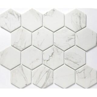 "Emser Tile W87ECHO1012MH3 Echo - 3"" x 3"" Hexagon Mosaic Floor and Wall Tile - Po - N/A"
