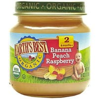 Earth's Best - Organic Banana Peach Raspberry ( 12 - 4 OZ)