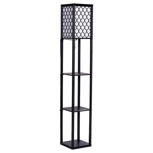 Costway 63u0026#x27;u0026#x27; Modern Shelf Floor Lamp ...