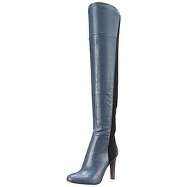 Nine West Womens Leather Pointed Toe Thigh-High Boots - 5 medium (b,m)