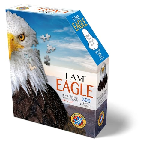 Madd Capp Puzzles - I AM Eagle - 300 Pieces - Animal Shaped Jigsaw Puzzle