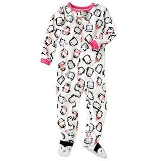 Carter's Little Girls' Fleece Footed Blanket Sleeper - Penguin, 5-Toddler - Penguin