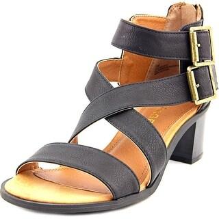 Rampage Havarti Women Open Toe Synthetic Black Sandals