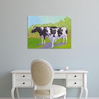 Easy Art Prints Carol Young's 'Pasture Cows II' Premium Canvas Art