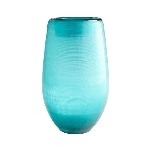 Cyan Design Large On The Water Vase On The Water 13.25 Inch Tall Glass Vase - turquoise - N/A