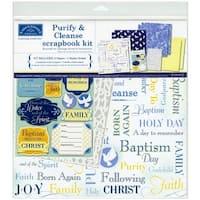 Karen Foster Design Themed Paper and Stickers Scrapbook Kit, Baptism