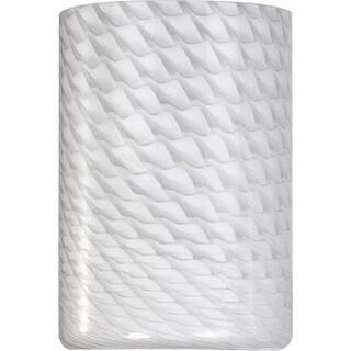 """Volume Lighting GS-792 6"""" Height White Frit Glass Round Shade"""