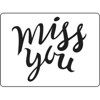 "Embossing Folder 4.25""X5.75""-Miss You"