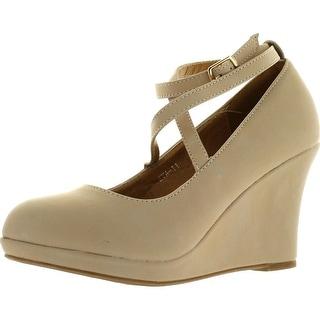 Top Moda Womens Eva-11 Wedge Platform Pumps Shoes