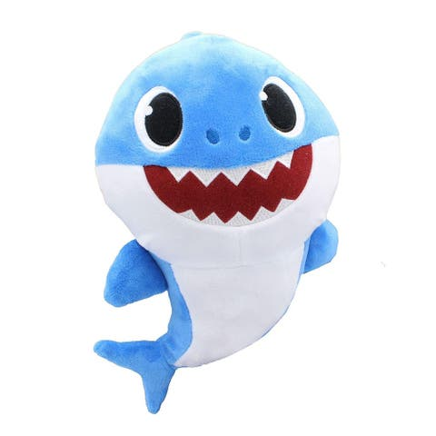 Pinkfong Shark Family 11 Inch Sound Plush - Daddy Shark Blue - Multi