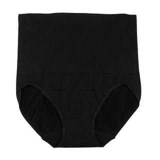 Under Where Women's Waist Tummy Control Brief Underwear - Black