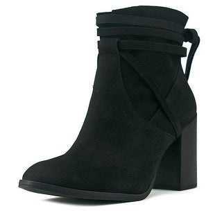 Steve Madden Percy Women Round Toe Leather Black Ankle Boot