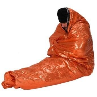 NDUR-Emergency Survival Bag- Orange/Silv