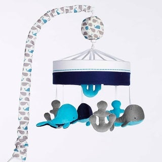 Just Born High Seas Musical Mobile, Whales Blue and Grey Anchors - Grey/Blue