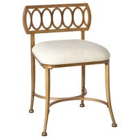 Hillsdale Furniture 50973 Canal Street 17 Inch Wide Metal and Wood Vanity Stool - N/A