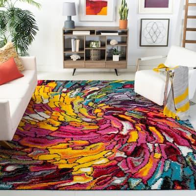 SAFAVIEH Fiesta Shag Latisha Abstract Rainbow Rug