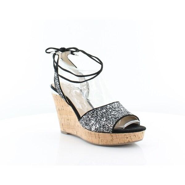 Guess Edinna Women's Heels Black Multi Texture - 7.5