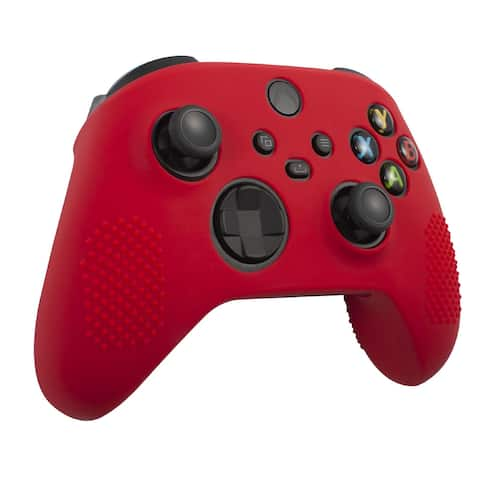 Insten Silicone Rubber Skin Case Cover Grip for Xbox Series X/S Controller, Red