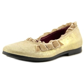 Oilily Oval Round Toe Suede Flats