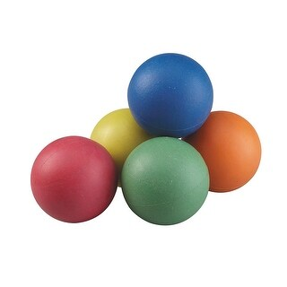 Rainbow Sponge Ball Set 2.5In 6/St