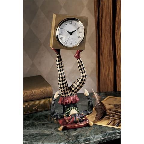 Design Toscano Juggling Time Harlequin Jester Sculptural Clock