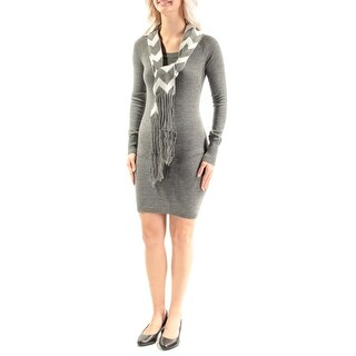 ENERGIE $27 Womens New 2019 Gray W/scarf Body Con Dress S Juniors B+B