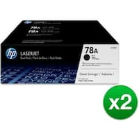 HP 78A Black Original LaserJet Toner Dual Cartridge (CE278D)(2-Pack)