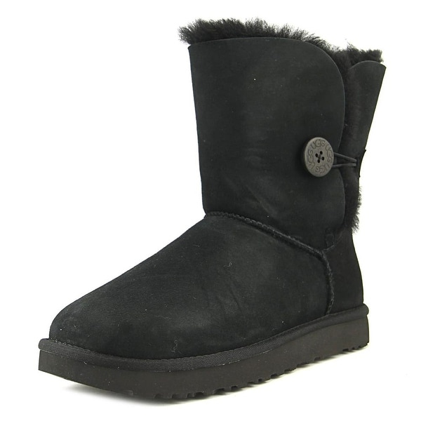 Ugg Australia Bailey Button II Women Round Toe Synthetic Black Winter Boot