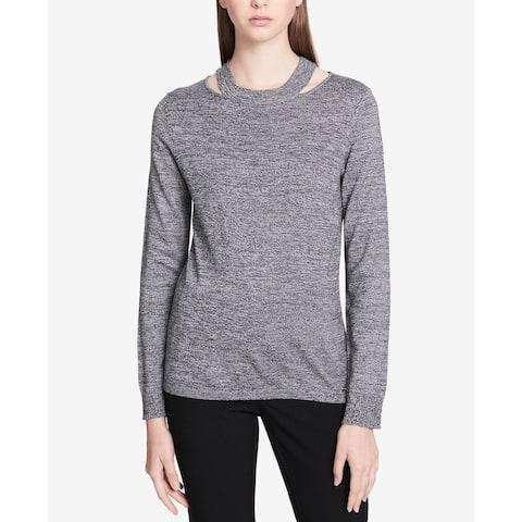Calvin Klein Performance Women's Cutout Sweater, Grey (S)