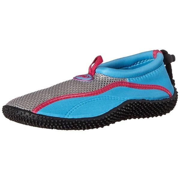 TECS Women's Aquasock Water Shoe, Blue/Pink, Size 5.0