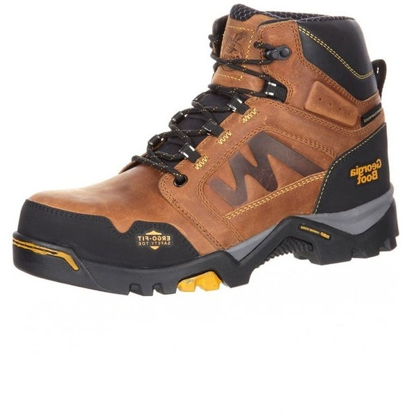 Georgia Boot Work Mens Amplitude WP CT Lightweight Brown
