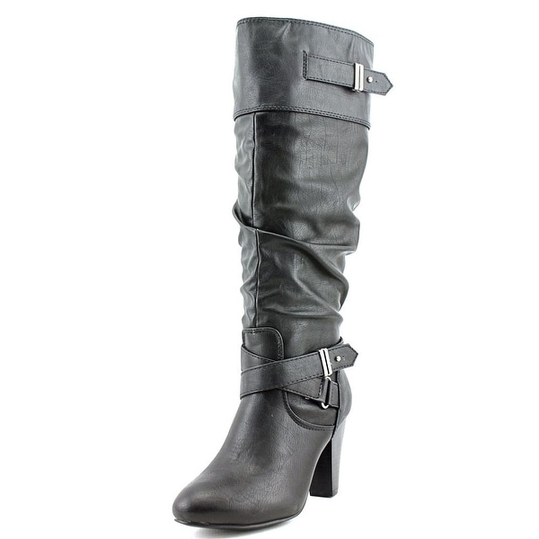 Rampage Eliven Women  Round Toe Synthetic Black Knee High Boot