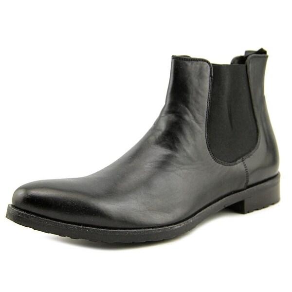 Ilaria Ranieri 139 Women Pointed Toe Leather Black Ankle Boot