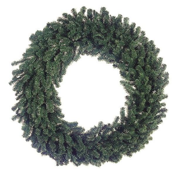 """60"""" Deluxe Windsor Pine Artificial Christmas Wreath - Unlit"""