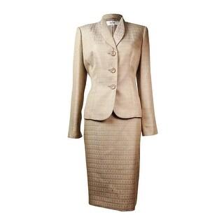 Le Suit Women's Cote D'Azure Jacquard Skirt Suit