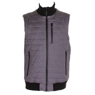 Calvin Klein Men'S Grey Heather Space-Dyed Quilted Puffer Vest XL