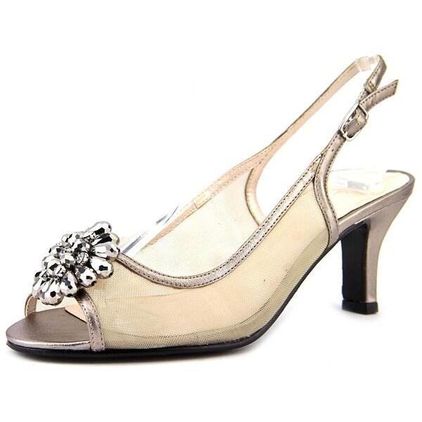 Caparros Savanna Peep-Toe Synthetic Slingback Heel